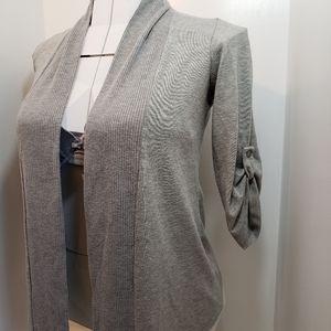 2/$60 Bobeau waterfall sweater shrug grey one size